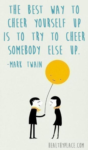 cheer someone up